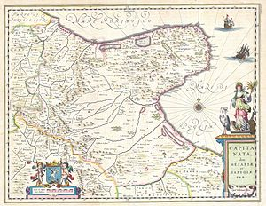 This is a magnificent c. 1630 map by Willem Bl...