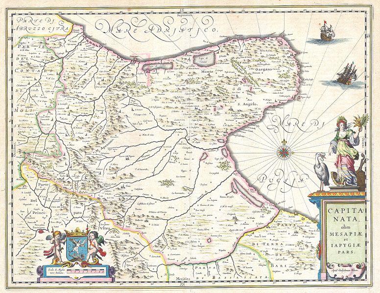 File:1630 Blaeu Map of Capitanata ( Foggia ), Italy - Geographicus - Capitanata-blaeu-1630.jpg