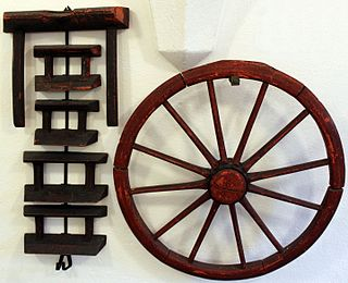 Breaking wheel Torture device used for capital punishment