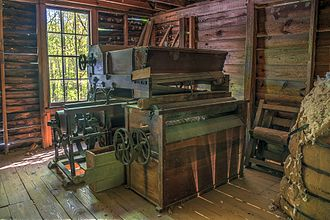 Cotton gin - Cotton gin at Jarrell Plantation