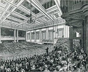 John Bright - Meeting of the Anti-Corn Law League in Exeter Hall, London, in 1846