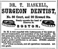 1851 dentist Haskell HowardSt BostonDirectory.png