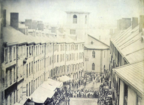 View Of Brattle St And Church 1855 Bostonian Society