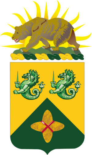 185th Armor Regiment - Coat of arms
