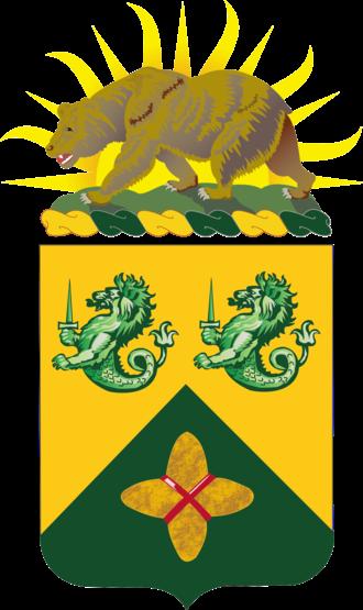 185th Armor Regiment - Coat of arms