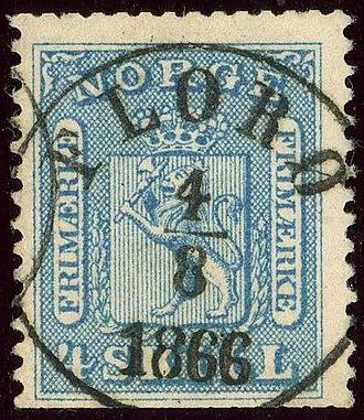 Florø - The Florø post office cancel in 1866.
