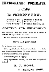 1867 Foss 13 Tremont Row ad GuideToBoston Massachusetts.png