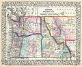 1867 Mitchell Map of Oregon, Washington, Idaho and Montana - Geographicus - WAORIDMT-mitchell-1867.jpg