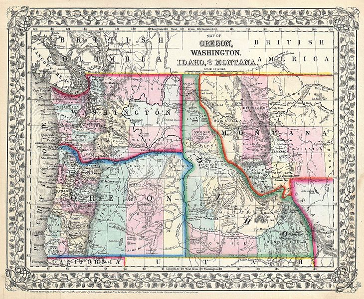 map of oregon with cities with File 1867 Mitchell Map Of Oregon  Washington  Idaho And Montana   Geographicus   Waoridmt Mitchell 1867 on California as well Langlois furthermore Relocating Lakeoswego Oregon further Siletz  oregon together with Woodland.