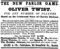 1867 OliverTwist game Adams BromfieldSt Boston ad EverySaturday.png