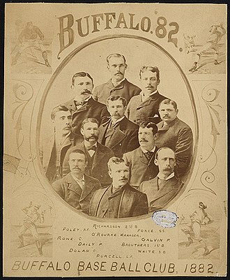 Buffalo Bisons (NL) - A program cover featuring the 1882 Buffalo Bisons