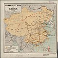 1899 United States Government Commercial map of China, showing treaty ports, ports of foreign control, railways, telegraphs, waterways.jpg