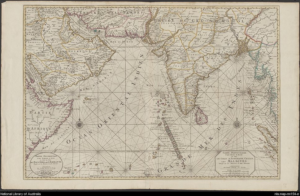 18th-century Maldives map by Pierre Mortier