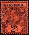 1908 2c British Honduras Orange Walk Yv62 Mi55 SG85a.jpg