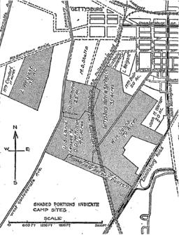 1913 Gettysburg reunion map.png