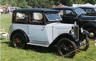 Morris Minor (1928) - 4-seat 2-door fabric saloon 1928