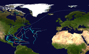 1932 Atlantic hurricane season - Image: 1932 Atlantic hurricane season summary map