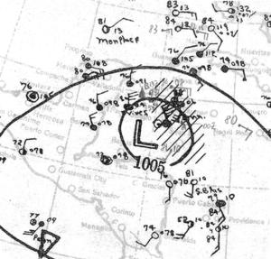 1933 Tampico hurricane - Image: 1933 Tampico hurricane 21 Sep 1933
