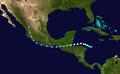 1945 Atlantic hurricane 10 track.png
