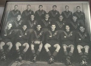 Harry Roberts (rugby union) - Harry Roberts on the 1st XV Rugby Union Team St.Joseph's Gregory Terrace, 1955