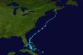 1958 Atlantic tropical storm 1 track.png