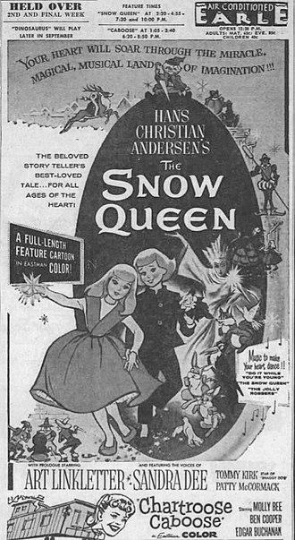 The Snow Queen (1957 film) - American newspaper advertisement