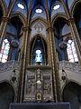 198 Santuari de la Misericòrdia (Canet de Mar), altar major i cambril de la marededéu.JPG