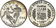 1994 World Cup Proof Dollar