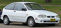 1998 Ford Festiva (WF) Trio 3-door hatchback (2010-07-19).jpg