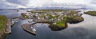 Stykkishólmur - Image: 1 aerial pano stykkishólmur 2017
