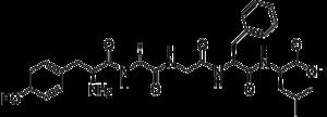 DADLE - Image: 2 D Alanine 5 D leucine enkephalin