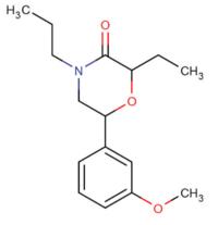 2-etilo-6 - (3-methoxy-fenila) 4-propilo-morpholin-3-one.png