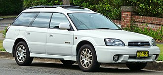 Subaru Outback - Image: 2001 Subaru Outback (BHE MY02) H6 station wagon (2011 03 10) 01