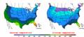2003-02-28 Color Max-min Temperature Map NOAA.png