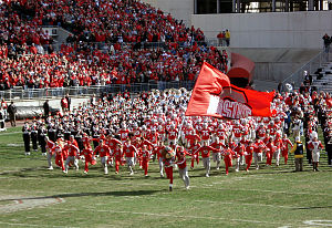 2006 Ohio State Buckeyes football team - The Buckeyes take the field against Minnesota on 2006-10-28.