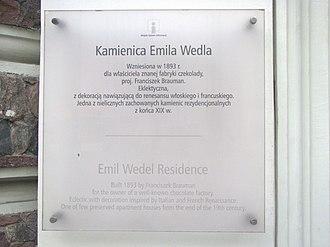E. Wedel - Information tablet on Emil Wedel's residence