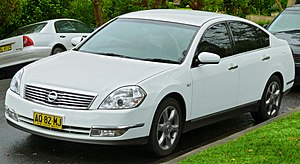 Nissan Teana - Facelift Nissan Maxima ST-L (Australia)