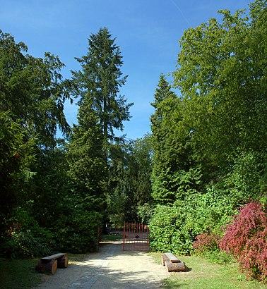 So kommt man zu Forstbotanischer Garten Eberswalde mit den Öffentlichen - Mehr zum Ort Hier
