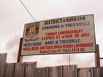Treichville - Treichville signage in 2009