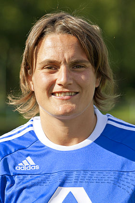 Nadine Angerer saved two penalties by Norway. 2011-08 Nadine Angerer.JPG