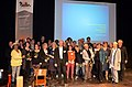 2014-03-19 Kulturzentrum Pavillon am Raschplatz in Hannover, Frühlingsempfang, (093) Das ganze Team, nicht immer scharf oder mit beiden Augen zu sehen.jpg