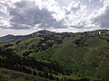 2014-06-24 14 20 16 View southwest towards the Copper Mountains from Elko County Route 748 (Charleston-Jarbidge Road) about 20.3 miles north of Charleston Reservoir between Bear Creek Summit and Coon Creek Summit, Nevada.JPG