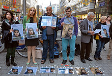 2014-10-05 International Committee Against Executions I.C.A.E, save Reyhaneh Jabbari, 021 Hannover Bahnhofstraße Ernst-August-Platz.JPG