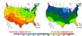 2015-10-02 Color Max-min Temperature Map NOAA.png