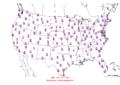 2015-10-20 Max-min Temperature Map NOAA.png