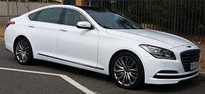 Hyundai Genesis - Image: 2015 Hyundai Genesis (DH) Ultimate Pack sedan (16331265353)