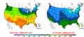 2016-04-05 Color Max-min Temperature Map NOAA.png