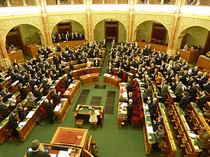 Hungary–Poland relations - Standing ovation in the Hungarian Parliament after passing into law: 2016 - the Year of Hungarian-Polish solidarity