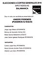 2016 Spanish General Elections Ballot - Salamanca - Unidos Podemos (PODEMOS-IU-EQUO).jpg