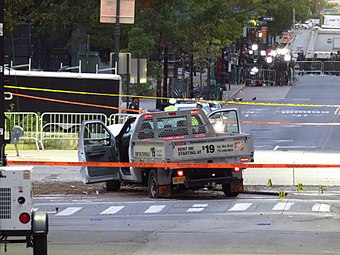 2017 NYC Truck Attack Home Depot Truck